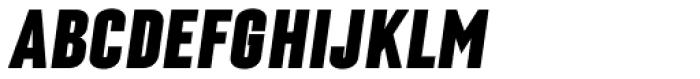 Laqonic 4F Unicase Black Italic Font UPPERCASE