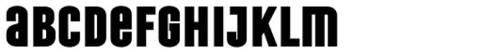 Laqonic 4F Unicase Black Font LOWERCASE