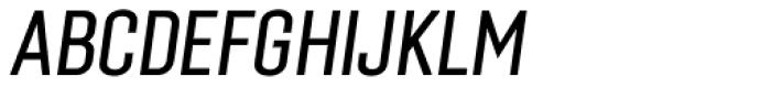 Laqonic 4F Unicase Light Italic Font UPPERCASE