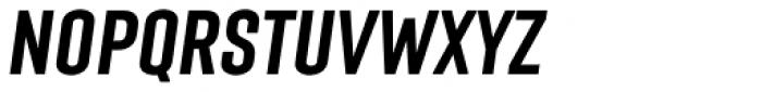 Laqonic 4F Unicase Medium Italic Font UPPERCASE