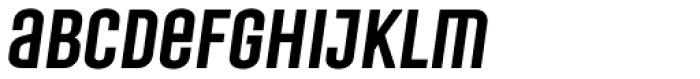 Laqonic 4F Unicase Medium Italic Font LOWERCASE