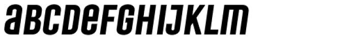 Laqonic 4F Unicase Semi Bold Italic Font LOWERCASE