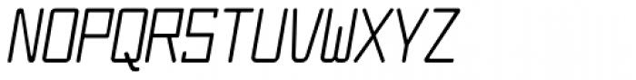 Larabiefont Condensed Italic Font UPPERCASE