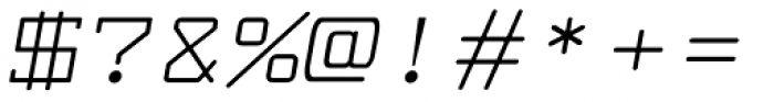 Larabiefont Extended Italic Font OTHER CHARS