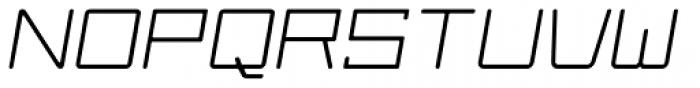 Larabiefont Extended Italic Font UPPERCASE