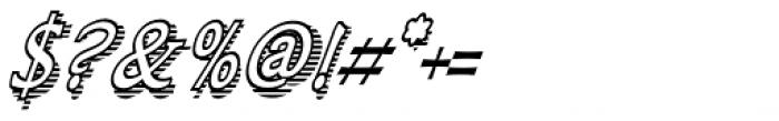 Larchmont Condensed Oblique Font OTHER CHARS