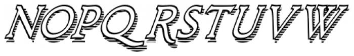 Larchmont Condensed Oblique Font UPPERCASE