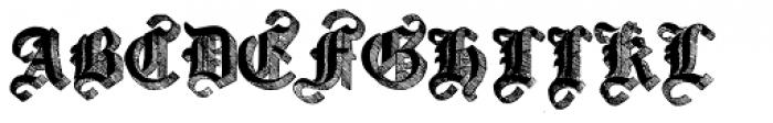 Large Old English Riband Font UPPERCASE