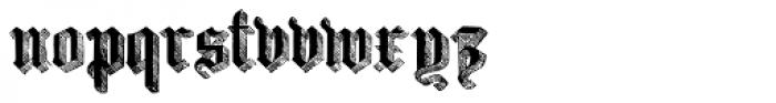 Large Old English Riband Font LOWERCASE