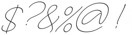 Larianti Italic Font OTHER CHARS