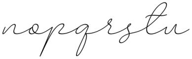 Larianti Italic Font LOWERCASE