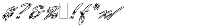 Laser Chrome Font OTHER CHARS