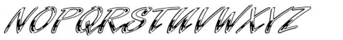 Laser Chrome Font UPPERCASE