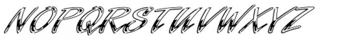 Laser Std Chrome Font UPPERCASE