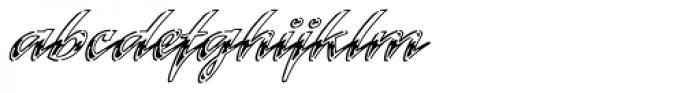 Laser Std Chrome Font LOWERCASE