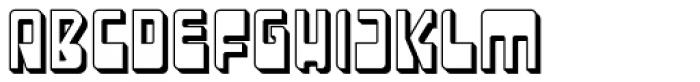 LaserDisco Extruded Font UPPERCASE