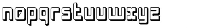 LaserDisco Extruded Font LOWERCASE