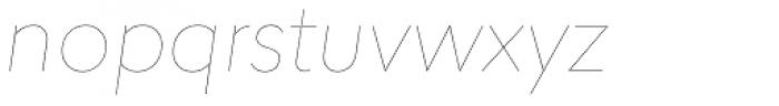 Lasiver Hairline Italic Font LOWERCASE