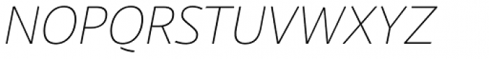 Laski Sans Extra Light Italic Font UPPERCASE