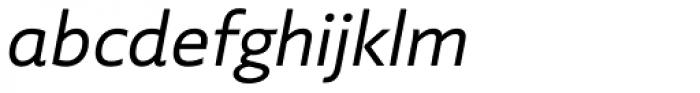 Laski Sans Regular Italic Font LOWERCASE
