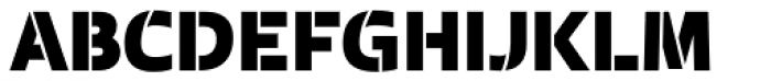 Laski Sans Stencil Black Font UPPERCASE