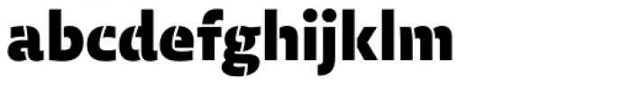 Laski Sans Stencil Black Font LOWERCASE