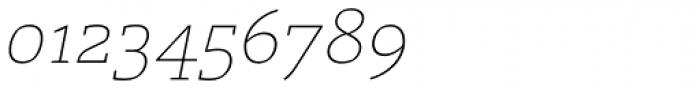 Laski Slab ExtraLight Italic Font OTHER CHARS