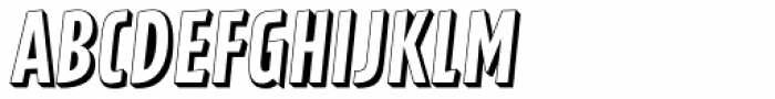 Latex Shadow Font UPPERCASE