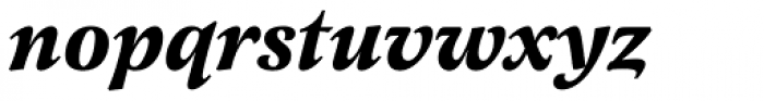 Latienne URW Bold Italic Swash Font LOWERCASE
