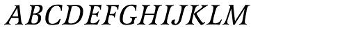 Latienne URW Italic SC Font LOWERCASE
