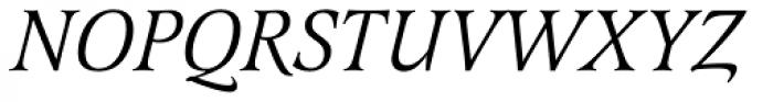 Latienne URW Italic Font UPPERCASE