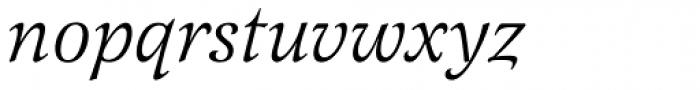 Latienne URW Italic Font LOWERCASE