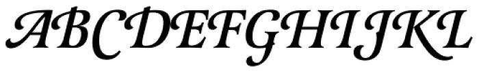 Latienne URW Medium Italic Swash Font UPPERCASE