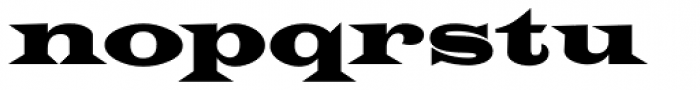 Latin CT Wide Font LOWERCASE