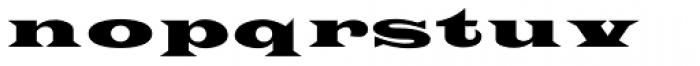 Latin Extra Font LOWERCASE