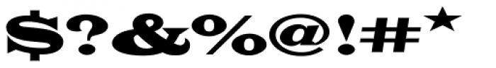 Latin Wide D Font OTHER CHARS