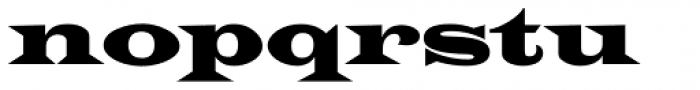 Latin Wide D Font LOWERCASE