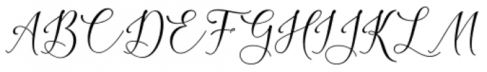 Lattoria Script Regular Font UPPERCASE