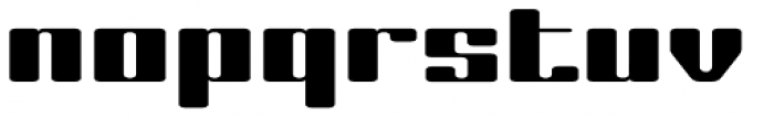 Laural Hardy Wide Font LOWERCASE