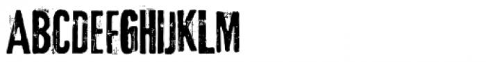 Lava Pro Grunge Font UPPERCASE
