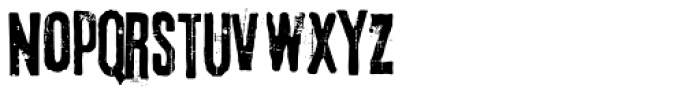 Lava Pro Grunge Font LOWERCASE