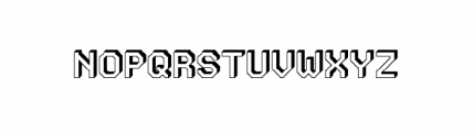 Labelo Rom 3D Open Font UPPERCASE