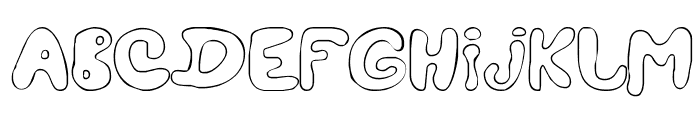 LC Blowzy Font UPPERCASE