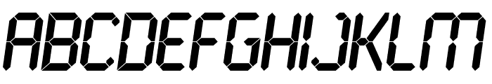 LCD Bold Font UPPERCASE