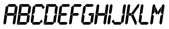 LCD Bold Font LOWERCASE