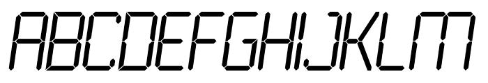 LCD Light Font UPPERCASE
