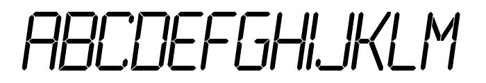 LCD Light Font LOWERCASE