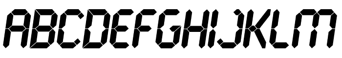 LCD Ultra Font UPPERCASE