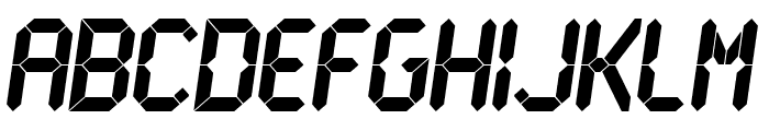 LCD Ultra Font LOWERCASE