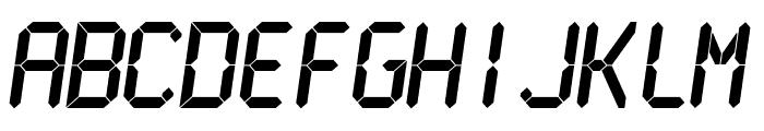 LCDMono Bold Font UPPERCASE